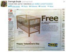 IKEA ad tweet