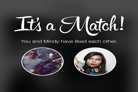 The Mindy Project matches up fans to lead characters' fake tinder profiles.